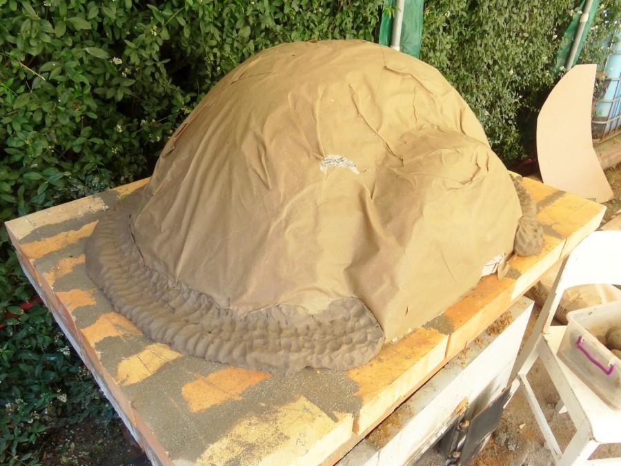 První vrstva hliněné pece