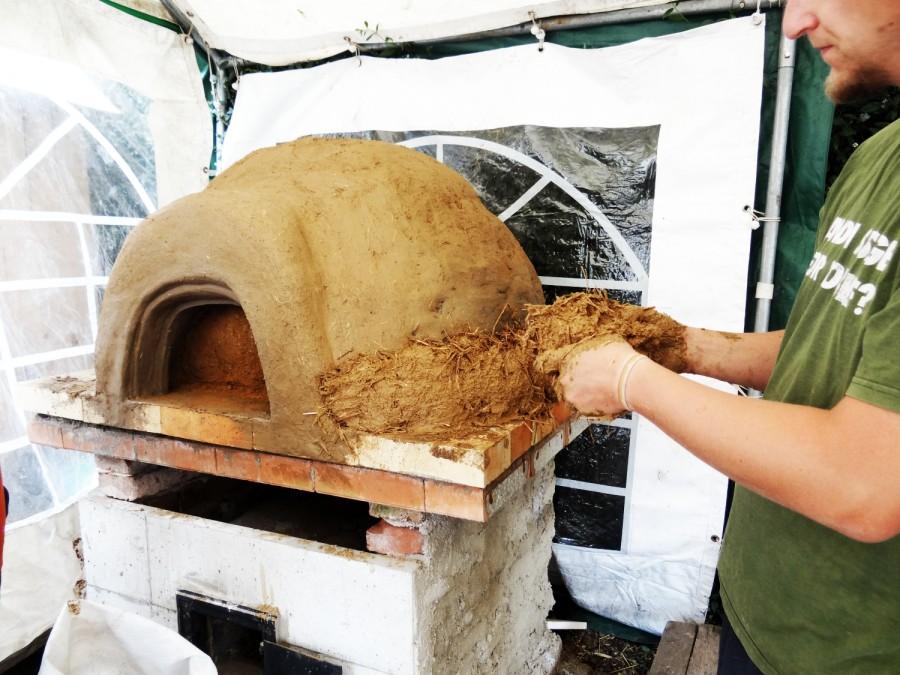 Poslední vrstva hliněné pece